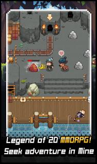 Grow Stone Online : 2d pixel RPG, MMORPG game screenshot 1