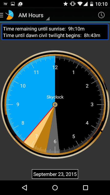 Skyclock screenshot 5