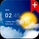 Transparent clock weather (Ad-free)