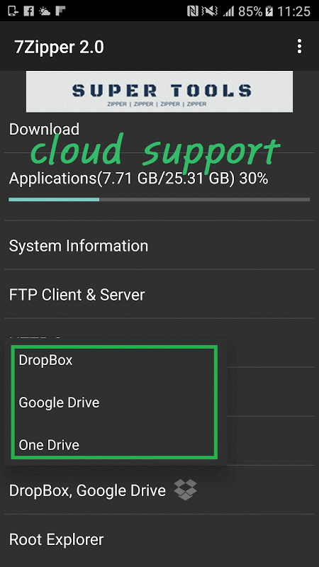 7Zipper 2.0 (7zip, rar, zip) screenshot 2