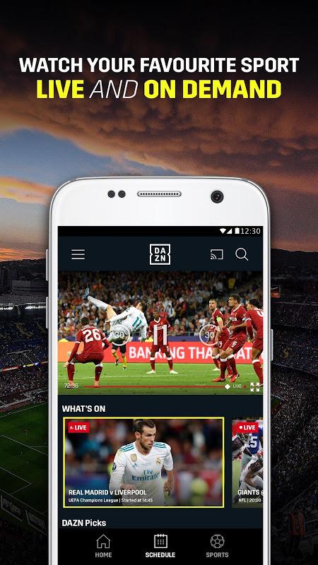 DAZN Esportes ao vivo: Futebol, e muito mais screenshot 1