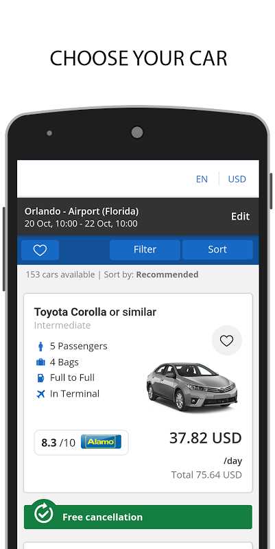 CARNGO.com - Car Rental APP screenshot 1