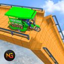 Superhero Tuk Tuk Rickshaw: Stunt Driving Games