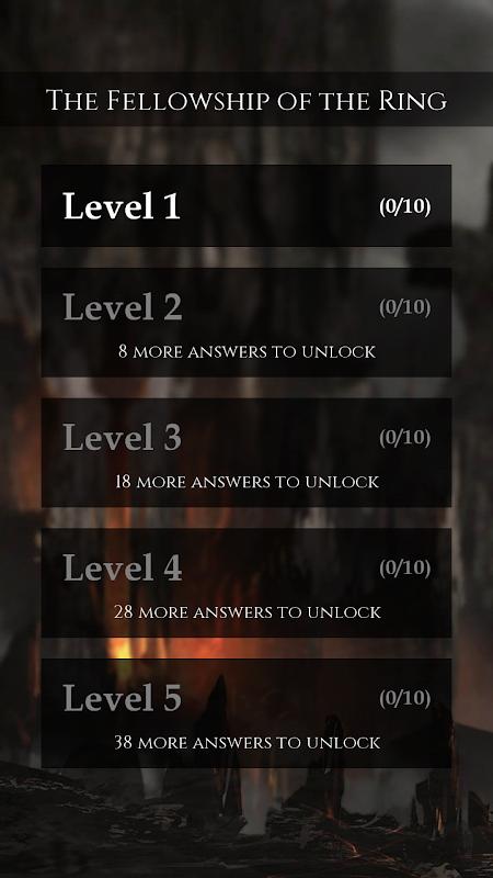 Quiz for LOTR screenshot 2