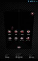 Next Launcher Black Red Theme Screenshot