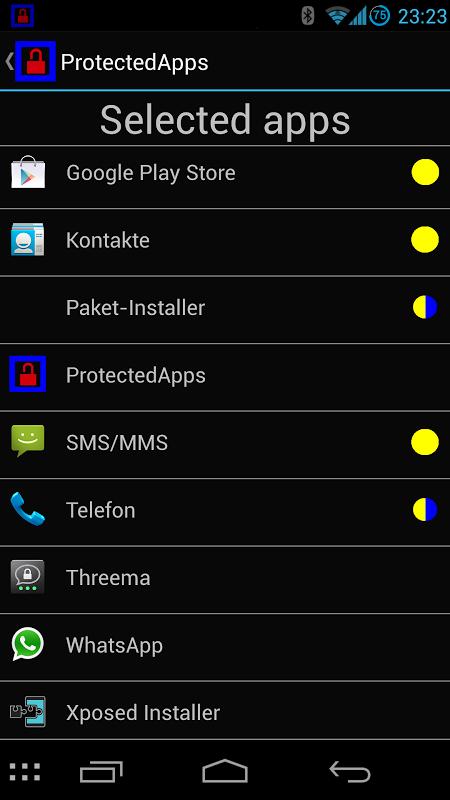 ProtectedApps screenshot 2