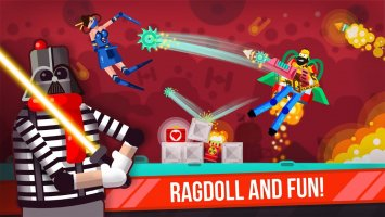 Ragdoll Rage: Heroes Arena Screen