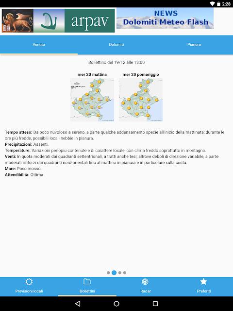 App ARPAV Meteo screenshot 2