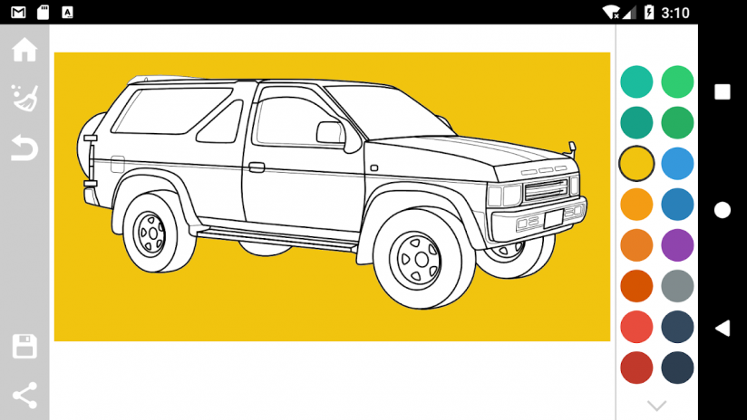 Japanese Cars Coloring Book Screenshot 10