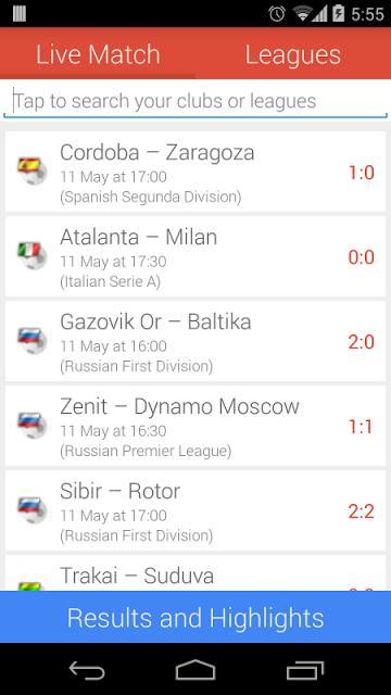 football live stream android apk
