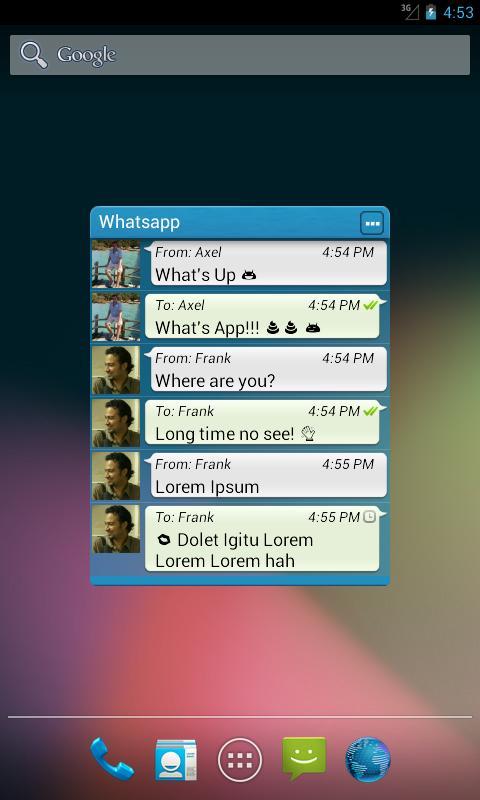 Widgets for Whatsapp™ (ROOT!) screenshot 1