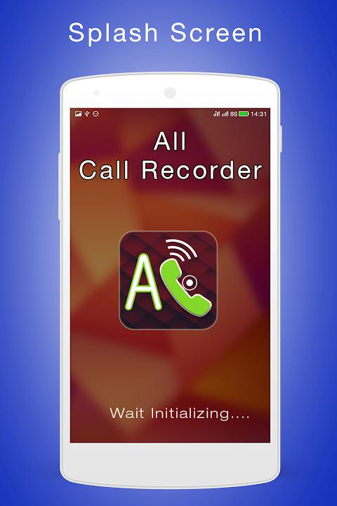 All Call Recorder screenshot 1