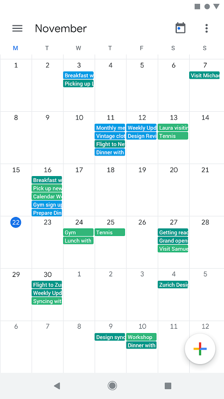Google Calendar screenshot 4
