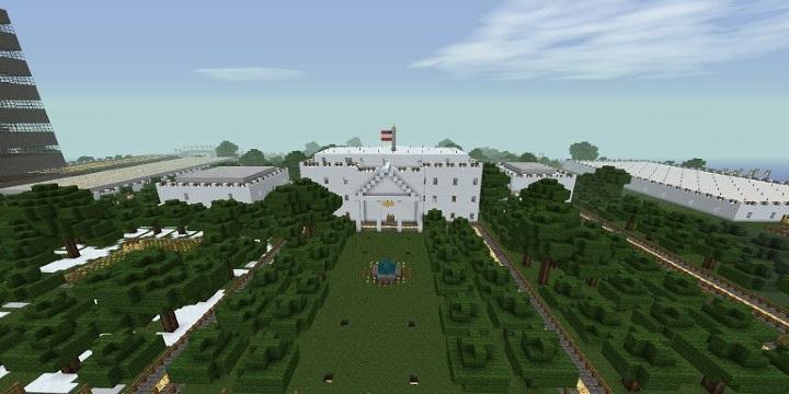 Белый дом [1.8] [1.7.10] [1.6.2] / Карты для Майнкрафт ...