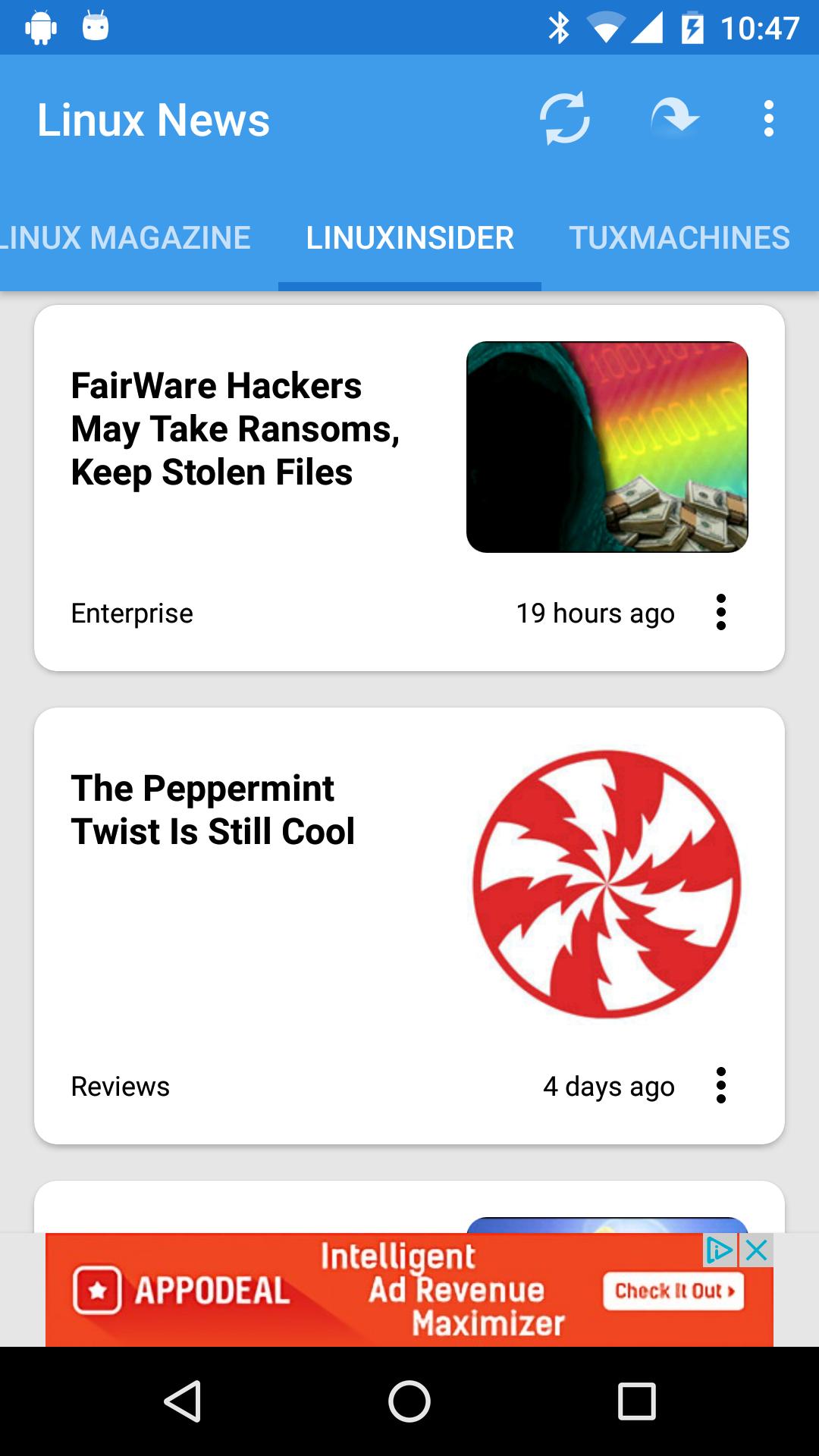 Linux News screenshot 1