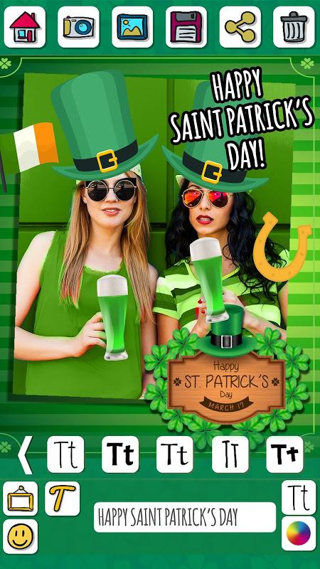 St Patrick's Day photo editor screenshot 2