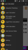Housing Loan Calculator Screen