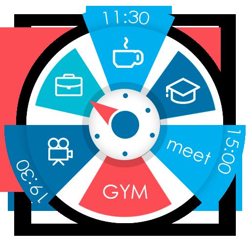 S.Graph: Planejador. Calendário no widget relógio