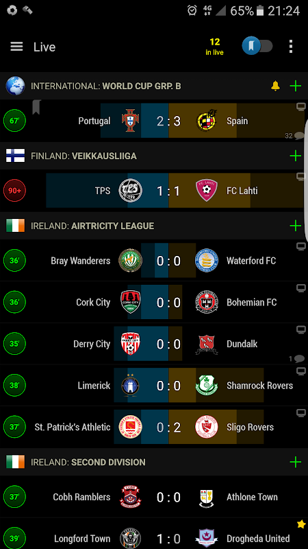 PRO Live Scores S-Center screenshot 1