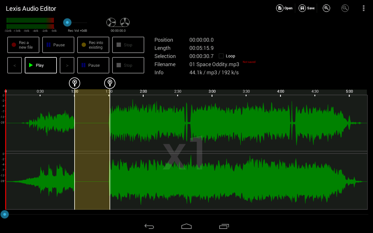 Lexis Audio Editor screenshot 1