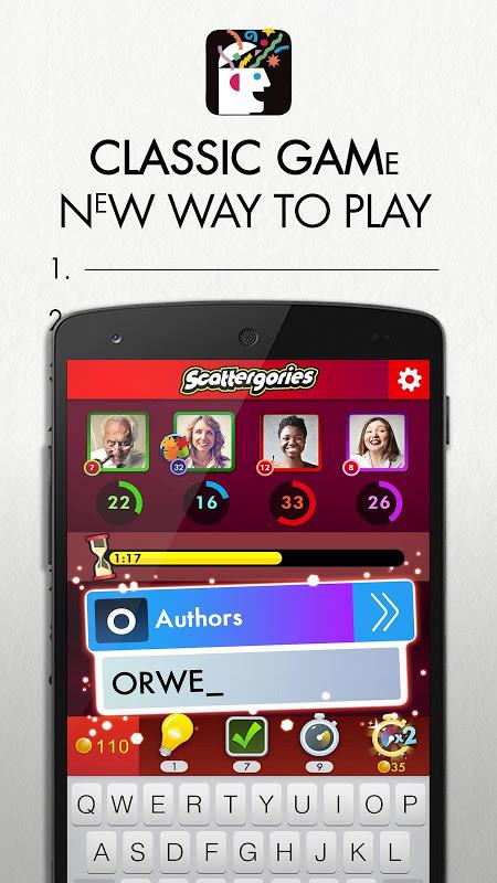Scattergories screenshot 1