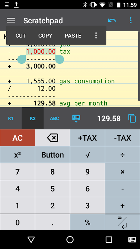 CalcTape calculadora screenshot 2