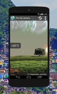 Animated Weather Widget&Clock screenshot 4