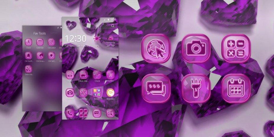 Pha Lê Màu Tím Tình Yêu Chủ đề113 Tải Apk Dành Cho Android