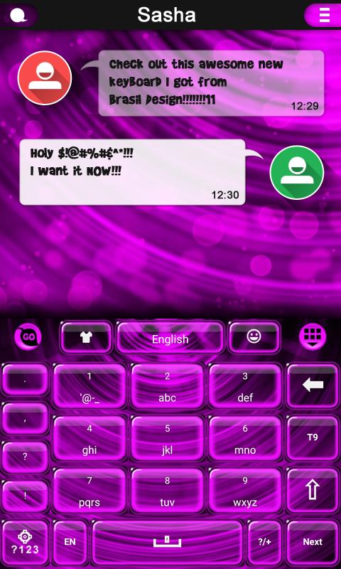 Neon Pink keyboard screenshot 2
