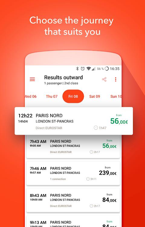 OUI.sncf - Train travel screenshot 1