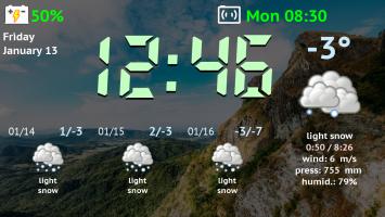 Weather Night Dock PRO Screen