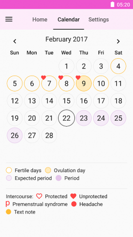 Period and Ovulation Tracker - Free Cycle Tracker 6 4