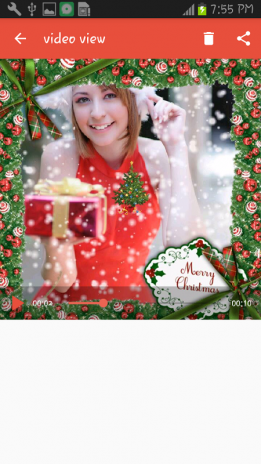christmas video maker screenshot 1