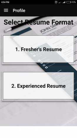 best resume maker for freshers experienced in pdf resume format