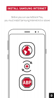 Adblock Plus for Samsung Internet - Browse safe. Screen