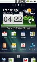 Xperia Arc Launcher Screen