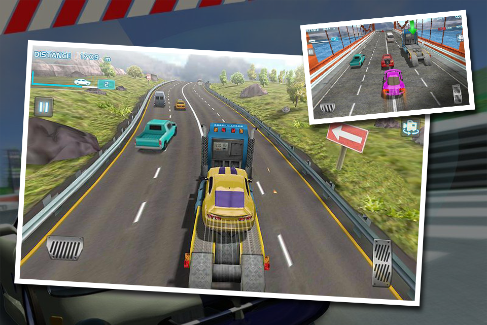Turbo Car Traffic Racing screenshot 1