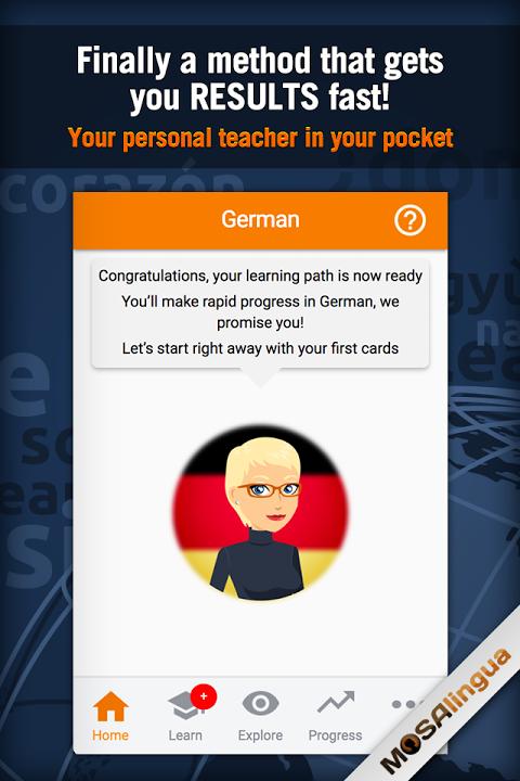 Learn German with MosaLingua screenshot 1