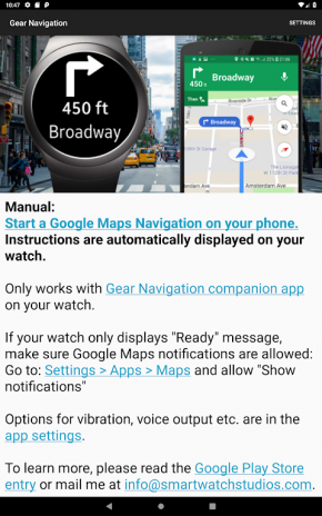 Gear Navigation Google Maps Navi On Samsung Watch 993 Download Apk