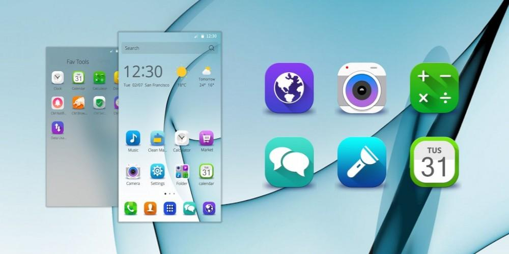 Samsung Galaxy S7 Edge. Theme For CM Launcher