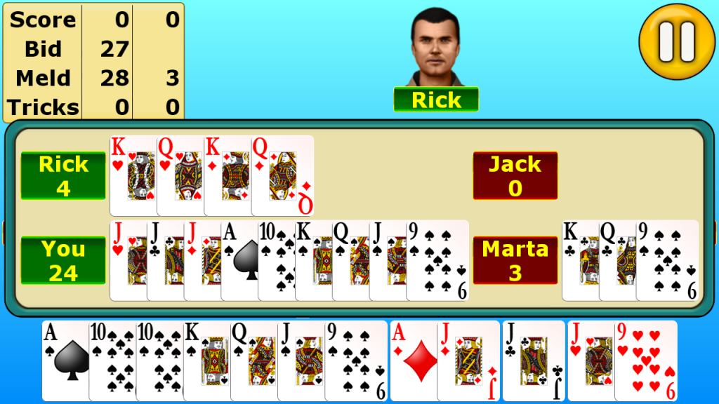 single deck pinochle free