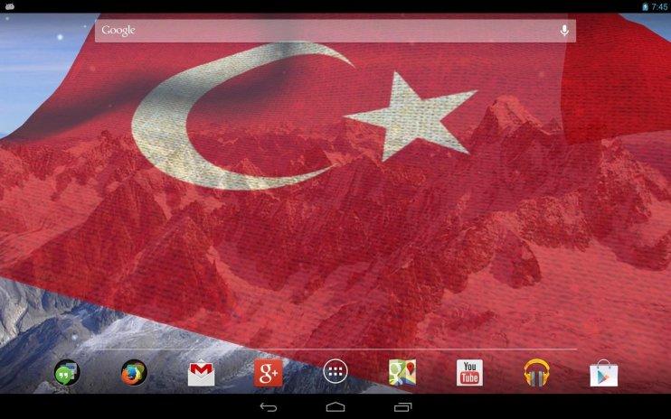 3d Turkey Flag Live Wallpaper Screenshot 1