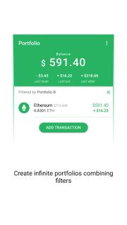 Vertfolio - Cryptocurrency Portfolio App screenshot 3