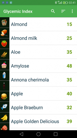 Glycemic Index of Products 2 5 Download APK for Android - Aptoide