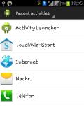 Activity Launcher Screen