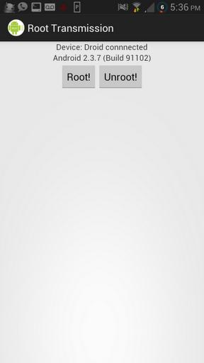Root Transmission Screenshot