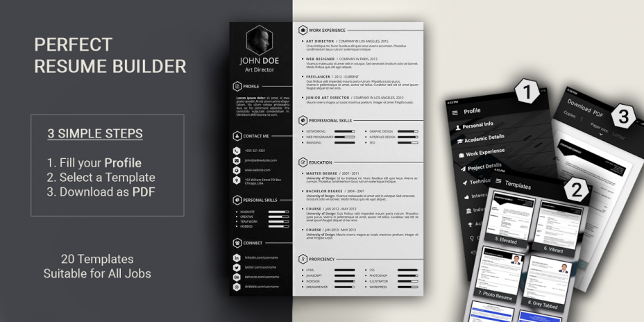 best resume builder pro cv templates 2018 resume format in pdf screenshot 1 - Resume Templates 2018