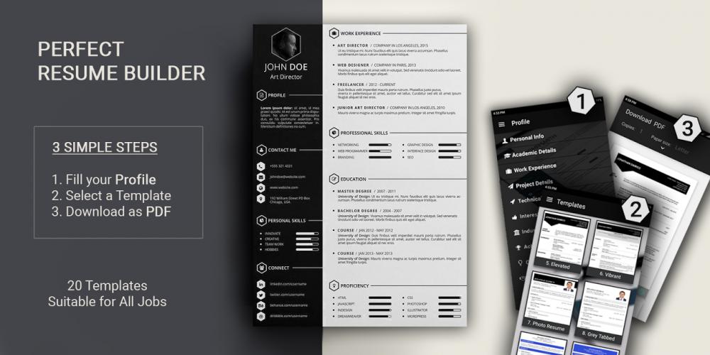 Free Resume Builder Pdf Formats Cv Maker Templates 5 1 Download Apk Android Aptoide