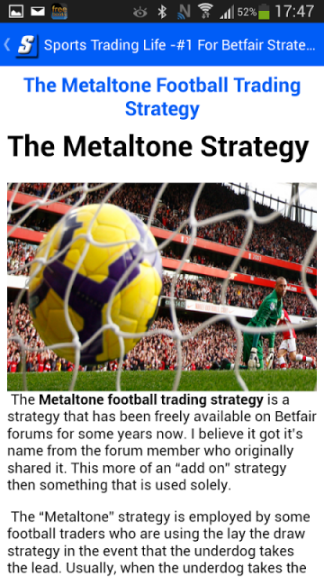 Trading strategies on betfair