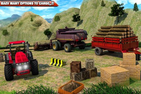 Heavy Tractor Trolley Driver Simulator: Free Games screenshot 4